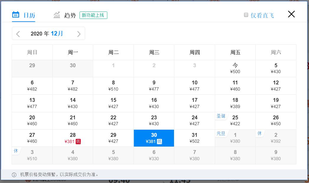 元旦假期火车票已正式开售,多地机票价格比火车票低一半!!插图130