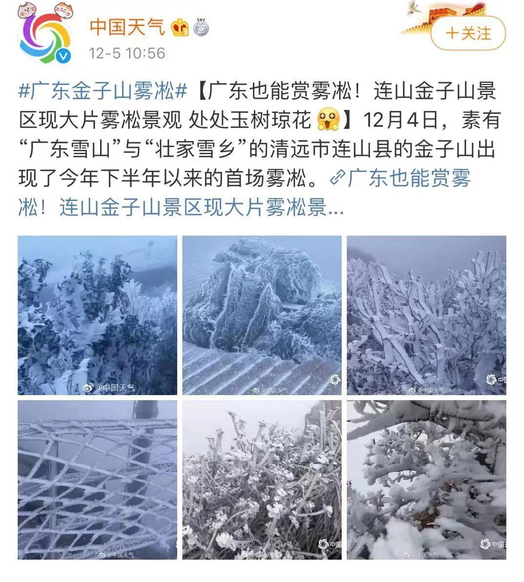 广东下雪了?真美!今年最冷已到,接下来东莞天气是……插图