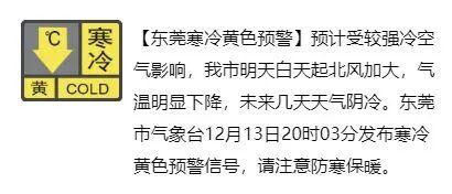 暴跌7℃!东莞发布寒冷预警,冷空气+阴雨杀进广东!东莞接下来天气是…插图6
