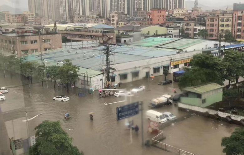 可怕!今早东莞多地严重水浸!未来几天将发生暴雨到大暴雨+8级大风………插图10