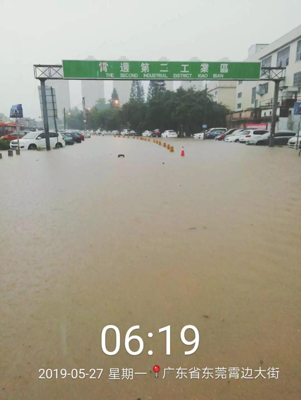 可怕!今早东莞多地严重水浸!未来几天将发生暴雨到大暴雨+8级大风………插图6
