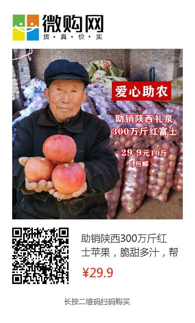 年关将近,紧急求助!陕西300万斤红富士苹果急盼销路,10斤仅29.9元,请大家帮忙转发助力,帮助乡亲们度过年关!插图62