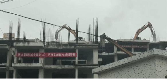 """020年""""第一拆""""!东莞这处占地1650㎡的违法建筑拆了"""""""