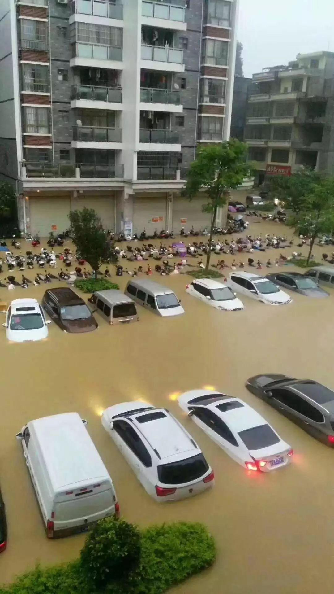可怕!今早东莞多地严重水浸!未来几天将发生暴雨到大暴雨+8级大风.........